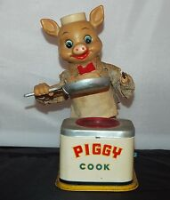 1950'S (?) PIGGY COOK BATTERY OPERATED TIN TOY PERFECT RESTORATION PROJECT