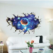 3D Planet Outer Space Wall Stickers Home Decor Mural Art Wall Decals Removable
