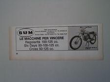 advertising Pubblicità 1972 MOTO SWM REGOLARITA' 100/125