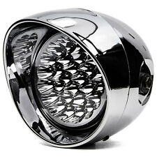 """NEW 7"""" LED Chrome Headlight Lamp High Low Beam for Motorcycle Harley Chopper"""