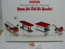 """Wiking 0990 89 # Tankstellen-Alltag der 1960´er Set """" Gasolin Tankstelle """" 1:87"""