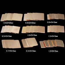 20X Laptop GPU CPU Heatsink Copper Shim DIY 15mmx15mmx0.3mm heat sink NEW