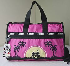 LeSportsac 7184 Disney Mickey Minnie Love In Paradise Medium Weekender