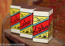3 uralte Kakaoschachteln für Kaufladen, Attrappen Holz mit Papieretikett