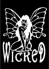 Sexy Wicked Fairy Sitting Pixie Decal Car Window Laptop Vinyl Sticker Graphic