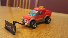 Lego Custom SNOW PLOW TRUCK~RED AND GRAY~