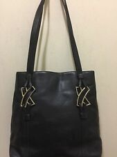 Paloma Picasso Shoulder Bag Black Leather Made in Italy H:11 L:13 D:3 SD:12