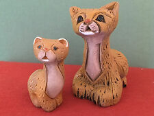 Artesania Rinconada Cheetah Duo, Cat #85 and Baby #85b (retired), Stamped