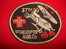Post Korea War Patch US 37th Medicall Det 1st Helicopter Ambulance Company