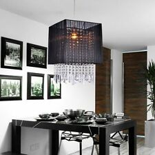 ONSALE Modern Drum Shade Crystal Chandelier Ceiling Pendant Light Fixture Lamps
