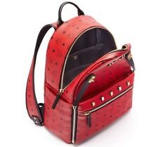 New with Tags Genuine MCM Dual Stark Medium Backpack in Red