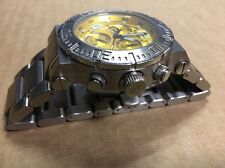 Invicta Reserve Swiss Made Quartz Watch - Stainless Steel - Flame Fusion Crystal