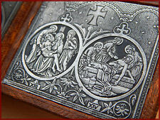 antique French Stations of the Cross of travel,Medallions,religous medals 19th C