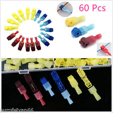 60 X Red&Yellow&Blue Car Audio Quick Splice Lock Wire Terminals Connector Crimp
