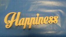 Raw Wooden Word Plaque with Affirmation - Happiness custom made home decor MDF