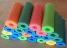 """20 x Pool noodles therapy, Craft, fishing water floating foam 9"""" random colors"""