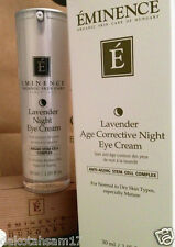 Eminence Organic  Lavender  Night Eye Cream  for Over Night Repair 1.05 oz NEW