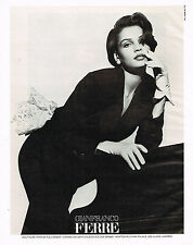 PUBLICITE ADVERTISING 025  1988  GIANFRANCO FERRE haute couture  HERB RITTS