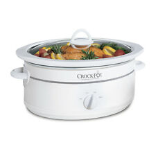 Crock-Pot 7 Qt. Manual Slow Cooker, White SCV700W-CN