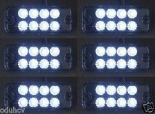 6 pcs 24V LED Front Side Marker White Lights for Truck Mercedes Ford Renault Daf