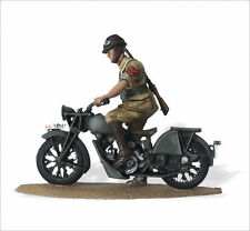 LEAD SOLDIERS MOTORCYCLE - Policia of Africa, Italian. Guzzi GT 17 - SMI035