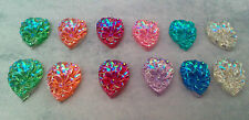 10 x flower  tear drop sew on stones dance, trim,gem,crystal, flat back,stick on