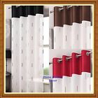 """MONACO Eyelet Ring Top Voile Net Curtain Panel - 54"""" 72"""" 90"""" ~ Many Colours"""