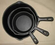 Cast Iron Skillet Cookware Camping Fry pan Survival Wilderness