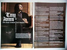 COUPURE DE PRESSE-CLIPPING :  TONY IOMMI [2pages] 2000 Interview,Black Sabbath
