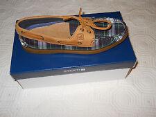 Sperry Top-Sider A/O 2 Eye Tartan Plaid Boat Shoes Women's 7 NIB