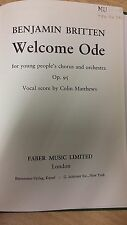 Britten: Welcome Ode For Youth Choir And Orchestra: Music Score (P1)