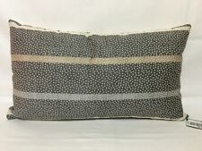 HOTEL COLLECTION - Colonnade Steel Embroidered 14 x 24 Decorative Pillow