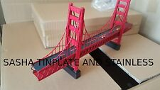 GOLDEN GATE BRIDGE SAN FRANCISCO tin plate wire vintage metal model handmade