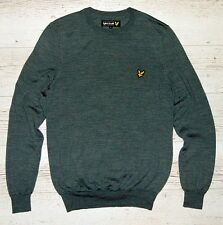 LYLE & SCOTT GREY LIGHT JUMPER 100% MERINO WOOL SIZE M MEDIUM