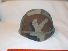 US ARMY, MARINE CORPS TYPE 1 HELMET LINER & CAMO COVER, GROUND TROOPS