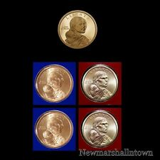 2014 P+D+S Native American Sacagawea Mint Proof Set ~ PD Pos A+B in Mint Wrap