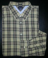 XL Tan Black Red Plaid TOMMY HILFIGER Trim Fit L/S Casual Dress Shirt! s2208