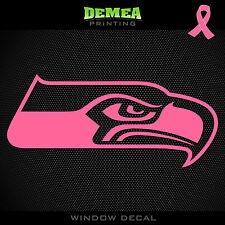 Seahawks NFL -  Breast Cancer Awareness Pink Vinyl Sticker Decal 5""