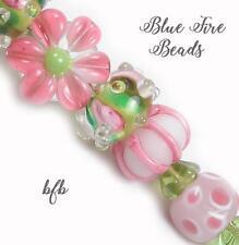 """BFB-Premium Handmade Lampwork & Czech Glass Beads """"SUMMER VERANDA"""" 11 Beads"""