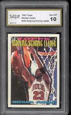 ONE CARD OF **** MICHAEL JORDAN **** W Serial # VERY RARE GRADED GEM MINT 10 #30
