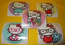 """HELLO KiTTY Sanrio STiCKERS with EYEGLASSES~Glasses Collection~Round 2.5"""""""