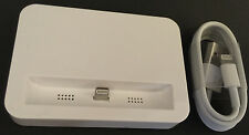 White Docking Station for iPhone 5 5s 5c + 1M Original Lightning Charge Cable