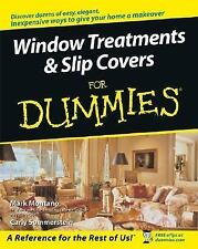Window Treatments and Slipcovers For Dummies - Acceptable - Montano, Mark - Pape