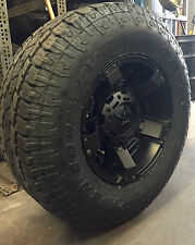 "17"" XD Rockstar 2 Black Wheels 33"" Toyo AT2 Tires 8x6.5 Chevy GMC Dodge RAM 8lug"