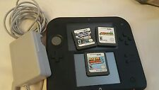 Nintendo red 2ds  Game System 100%  Working Console plus 3 games
