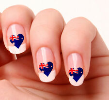 20 Nail Art Decals Transfers Stickers #277 - Australian Flag Heart