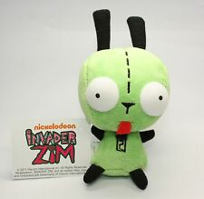 "Mini Alien Invader Zim Gir Soft Plush 5.5"" Green Robot Monster 3D Eyes Cute Gift"