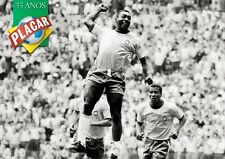 POSTER PELE' BRASILE BRAZIL SOCCER FOOTBALL CALCIO RE 3