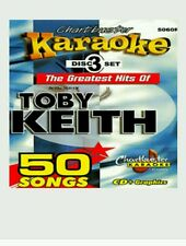 CHARTBUSTER KARAOKE CDG  TOBY KEITH (5060R)  3 DISC BOX SET  50 TRACKS   NEW