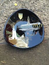 """OLD VINTAGE LONGWY LUXEMBOURG HANDPAINTED BLACK PLATE, INALTERABLE FEU, 10 1/2"""""""